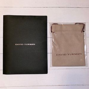 ✅David Yurman dust bag and receipt pouch/ holder.